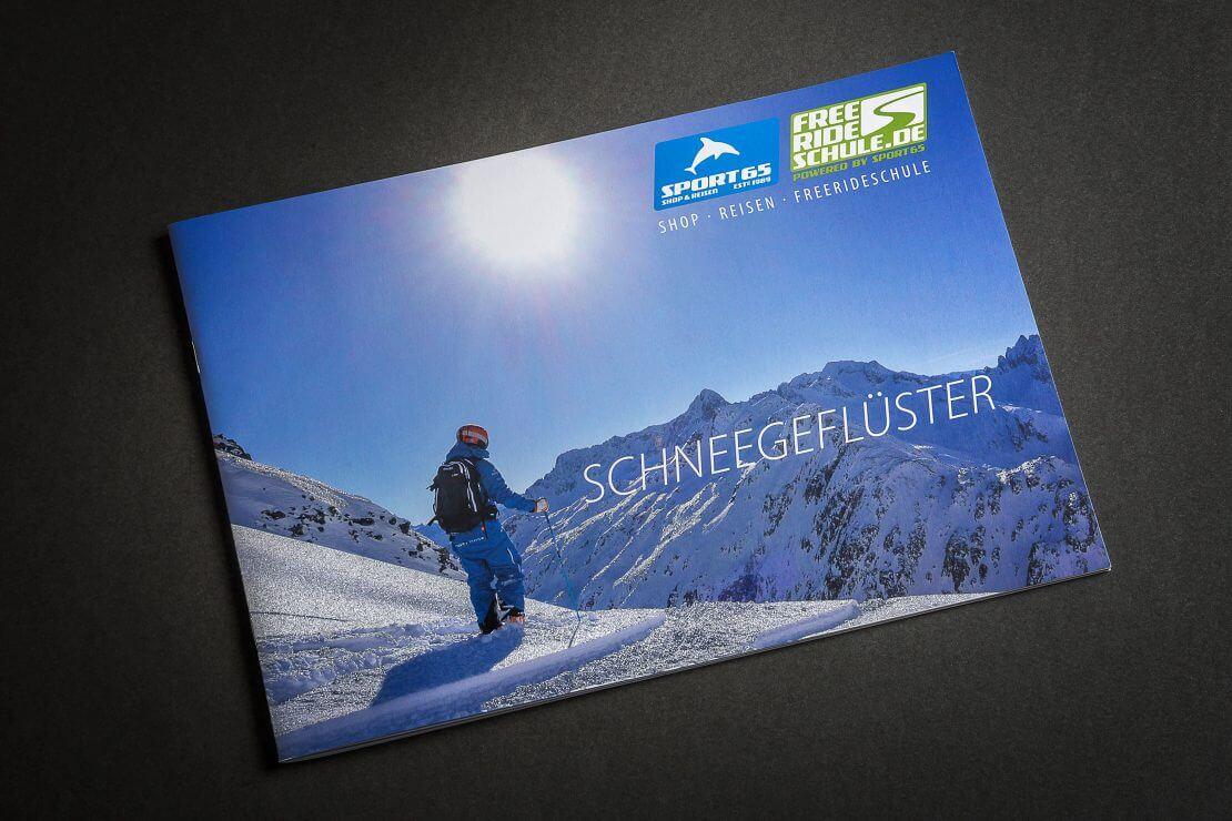 Reiseprospekt Freeride Umschlag